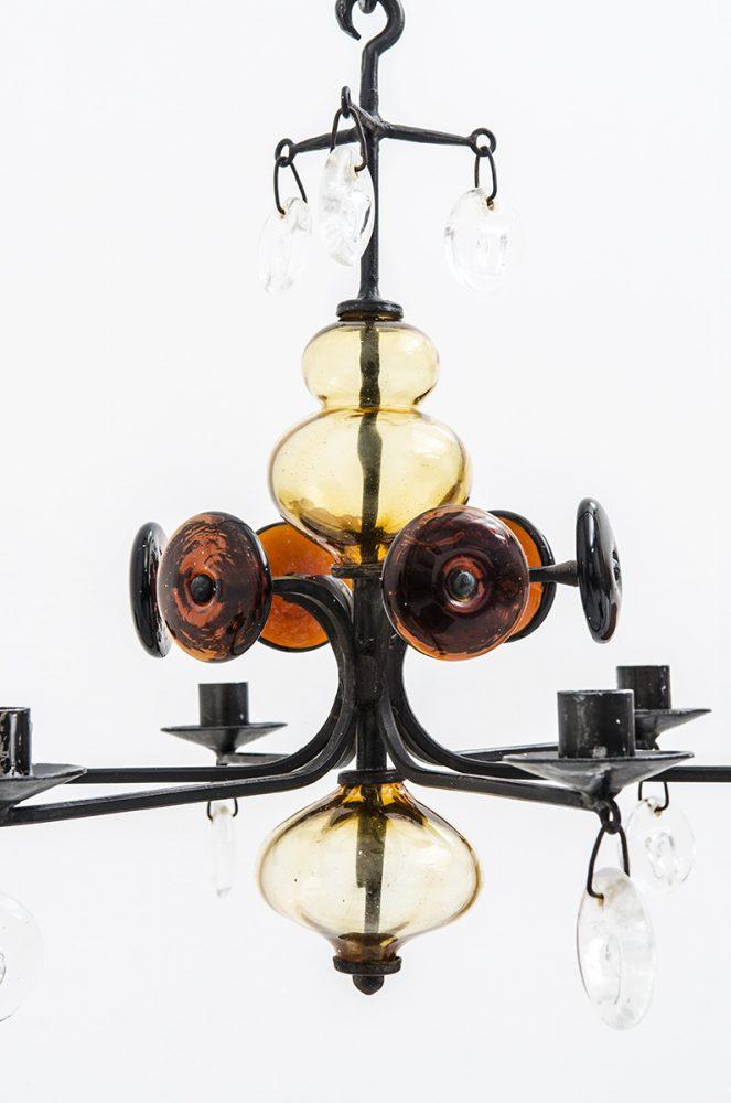Erik Höglund chandelier by Boda smide at Studio Schalling