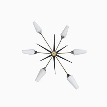 Mid century sputnik wall lamp produced in Italy at Studio Schalling