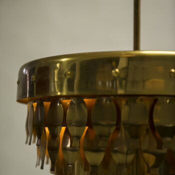 Mid century ceiling lamp in brass at Studio Schalling