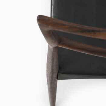 HW Klein dining chairs in rosewood and leather at Studio Schalling