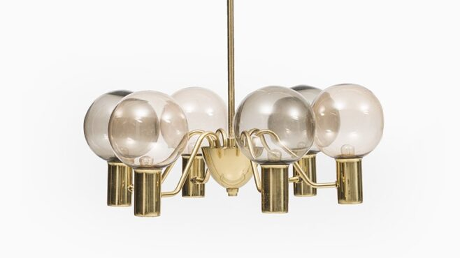 Hans-Agne Jakobsson ceiling lamp in brass at Studio Schalling