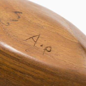 Sculptural teak bowl signed by A.p at Studio Schalling