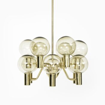 Hans-Agne Jakobsson ceiling lamp in brass and glass at Studio Schalling