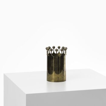 Pierre Forsell vase in brass by Skultuna at Studio Schalling