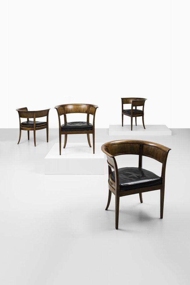 Kaare Klint armchairs model 4395 at Studio Schalling