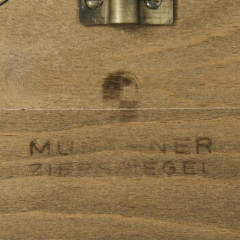 Mid century mirror in brass at Studio Schalling