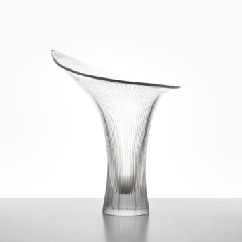 Tapio Wirkkala Kantarelli glass vase by Iittala at Studio Schalling