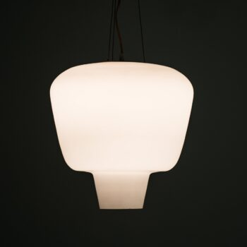 ASEA ceiling lamp in opaline glass and brass at Studio Schalling