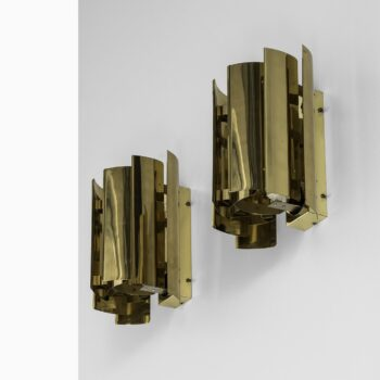 Wall lamps in brass by Falkenbergs belysning AB at Studio Schalling