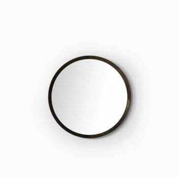 Uno & Östen Kristiansson round mirror in rosewood at Studio Schalling