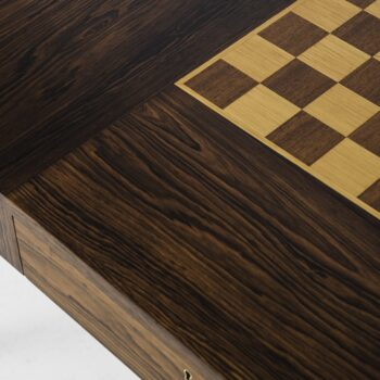 Rosewood desk with chessboard on top at Studio Schalling