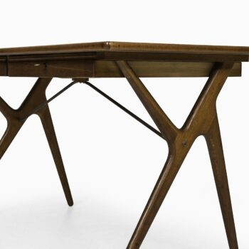 Rare desk in teak, oak and brass at Studio Schalling