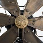 Industrial fan in brass by General Electric at Studio Schalling