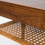 Severin Hansen bedside table in rosewood and cane at Studio Schalling