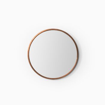 Round mirror in copper by Glas mäster at Studio Schalling