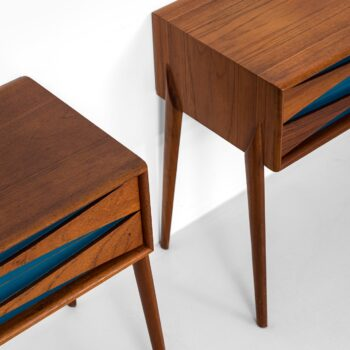 Glas & trä Hovmantorp side tables with drawers at Studio Schalling