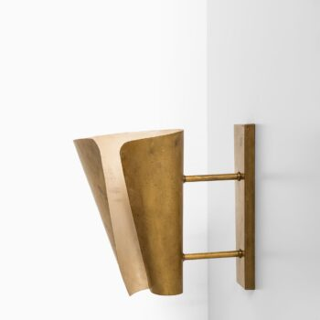 Pair of wall lamps in brass at Studio Schalling