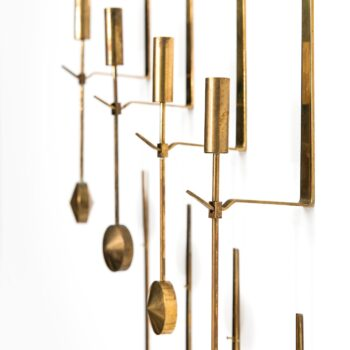 Pierre Forsell wallhanged candlesticks by Skultuna at Studio Schalling