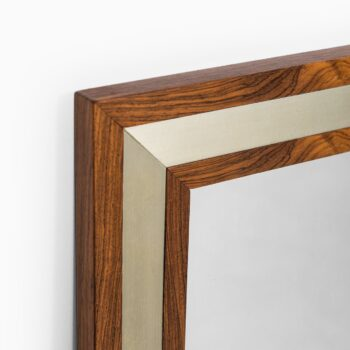 Aksel Kjersgaard mirror in rosewood and aluminium at Studio Schalling