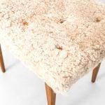 Bruno Mathsson stool in sheepskin at Studio Schalling