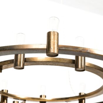 Large ceiling lamp in brass at Studio Schalling