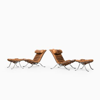 Arne Norell Ari easy chairs with footstools at Studio Schalling