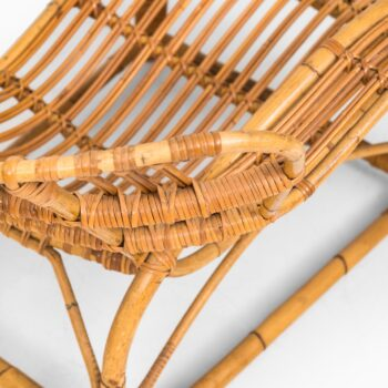 Viggo Boesen easy chairs in rattan and cane at Studio Schalling