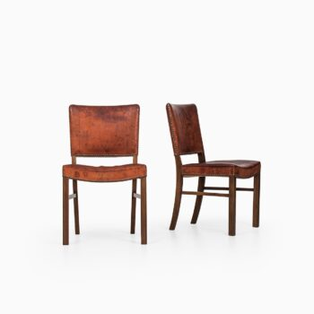 Set of 8 dining chairs in the style of Kaare Klint at Studio Schalling