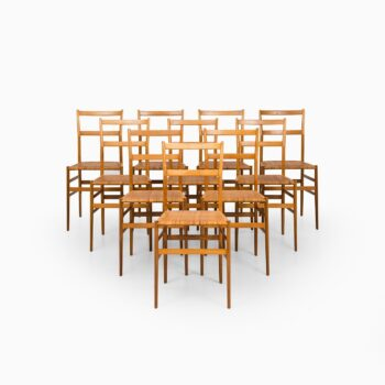 Gio Ponti Superleggera dining chairs at Studio Schalling
