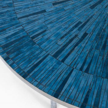 Coffee table in steel and mosaic at Studio Schalling