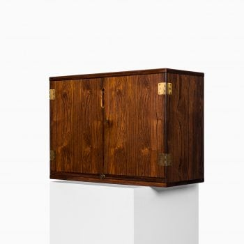 Svend Langkilde bar cabinet in rosewood and brass at Studio Schalling