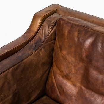 Børge Mogensen sofa model 2213 in cognac brown leather at Studio Schalling