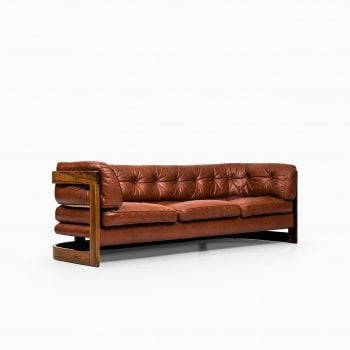 Lennart Bender sofa in rosewood and red leather at Studio Schalling