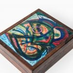 Alfred Klitgaard box in rosewood and enamel at Studio Schalling