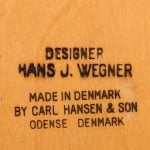 Hans Wegner armchair model CH-35 in teak at Studio Schalling