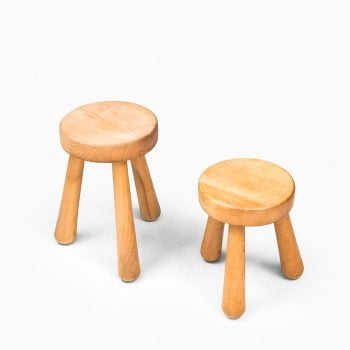 Ingvar Hildingsson 3 legged stool in birch at Studio Schalling