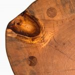 Brutalist stool in oregon pine at Studio Schalling