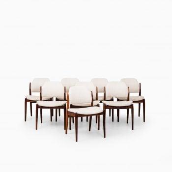 Arne Vodder dining chairs model 462 at Studio Schalling