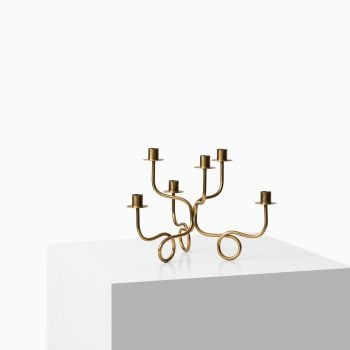 Josef Frank candlestick in brass by Svenskt tenn at Studio Schalling