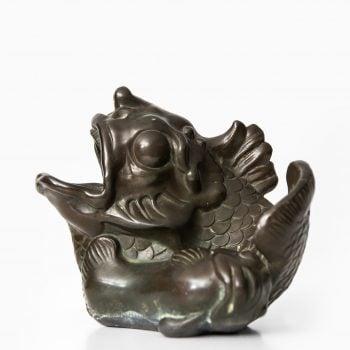 Just Andersen carp fish sculpture at Studio Schalling
