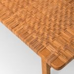 Børge Mogensen side table in oak and woven cane at Studio Schalling
