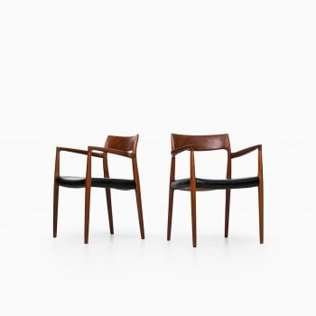 Niels O. Møller armchairs model 57 in teak at Studio Schalling