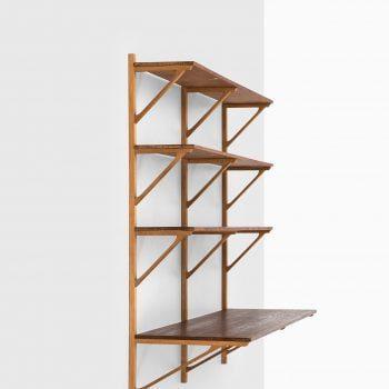 Børge Mogensen wall mounted bookcase model 291 at Studio Schalling