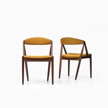Kai Kristiansen dining chairs in teak at Studio Schalling