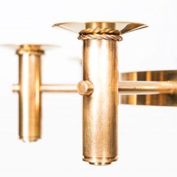 Hans-Agne Jakobsson chandelier in brass at Studio Schalling