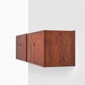 Hans Wegner wall mounted sideboards in teak at Studio Schalling