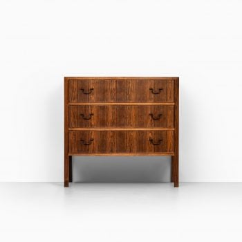 Jacob Kjær bureau in rosewood and brass at Studio Schalling