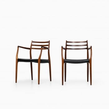Niels O. Møller armchairs model 62 in rosewood at Studio Schalling