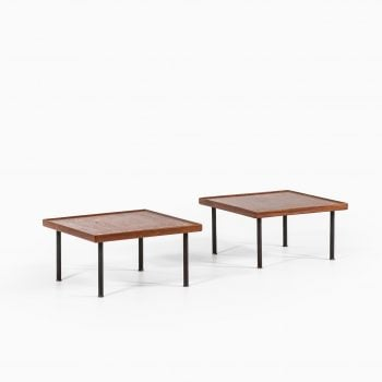 Melchiorre Bega side tables in teak and brass at Studio Schalling