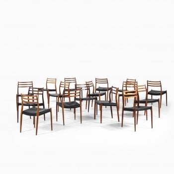 Niels O. Møller dining chairs model 78 at Studio Schalling